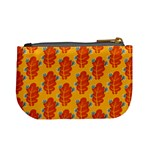 Bugs Eat Autumn Leaf Pattern Mini Coin Purses Back