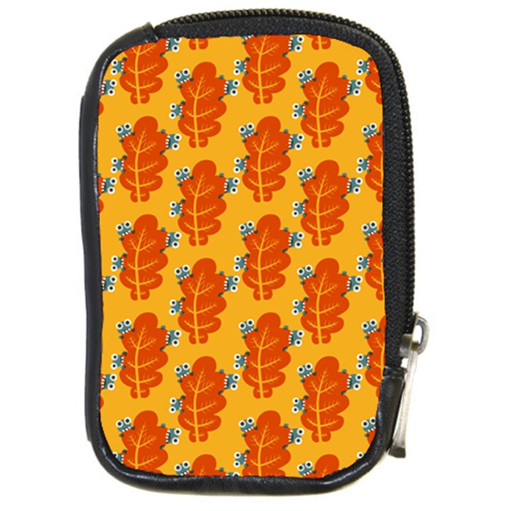 Bugs Eat Autumn Leaf Pattern Compact Camera Cases