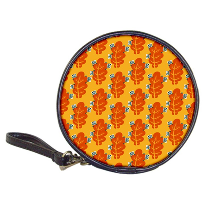 Bugs Eat Autumn Leaf Pattern Classic 20-CD Wallets