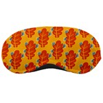 Bugs Eat Autumn Leaf Pattern Sleeping Masks Front