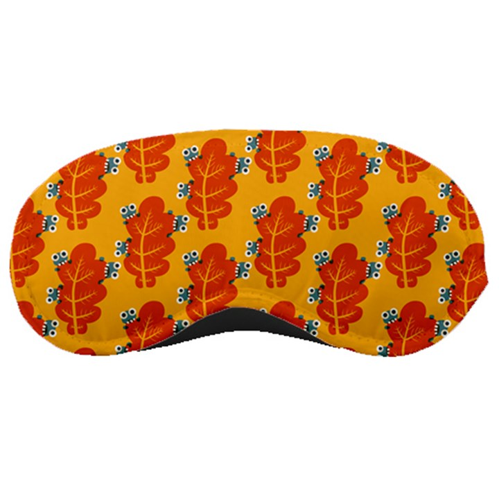 Bugs Eat Autumn Leaf Pattern Sleeping Masks