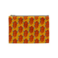 Bugs Eat Autumn Leaf Pattern Cosmetic Bag (Medium)