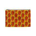 Bugs Eat Autumn Leaf Pattern Cosmetic Bag (Medium)  Front