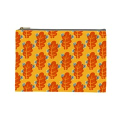 Bugs Eat Autumn Leaf Pattern Cosmetic Bag (Large)