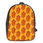 Bugs Eat Autumn Leaf Pattern School Bags(Large)  Front