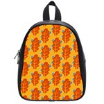 Bugs Eat Autumn Leaf Pattern School Bags (Small)  Front