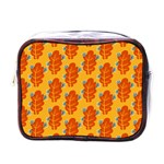 Bugs Eat Autumn Leaf Pattern Mini Toiletries Bags Front