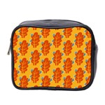 Bugs Eat Autumn Leaf Pattern Mini Toiletries Bag 2-Side Front