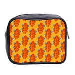 Bugs Eat Autumn Leaf Pattern Mini Toiletries Bag 2-Side Back