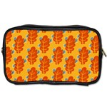 Bugs Eat Autumn Leaf Pattern Toiletries Bags Front