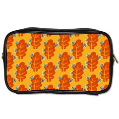 Bugs Eat Autumn Leaf Pattern Toiletries Bags 2 Side