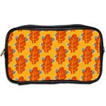 Bugs Eat Autumn Leaf Pattern Toiletries Bags 2-Side Back