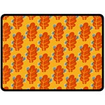 Bugs Eat Autumn Leaf Pattern Fleece Blanket (Large)  80 x60 Blanket Front