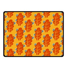 Bugs Eat Autumn Leaf Pattern Fleece Blanket (Small)