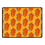 Bugs Eat Autumn Leaf Pattern Fleece Blanket (Small) 50 x40 Blanket Front