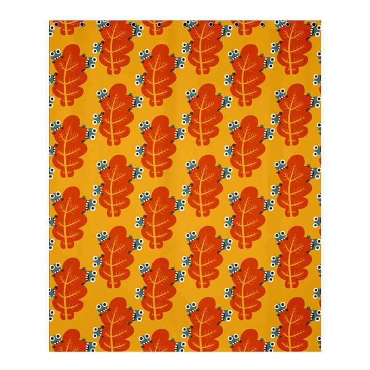 Bugs Eat Autumn Leaf Pattern Shower Curtain 60  x 72  (Medium)