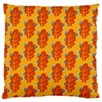 Bugs Eat Autumn Leaf Pattern Large Cushion Case (One Side) Front