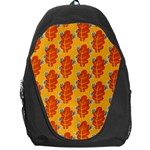Bugs Eat Autumn Leaf Pattern Backpack Bag Front