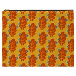 Bugs Eat Autumn Leaf Pattern Cosmetic Bag (XXXL)  Front