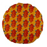 Bugs Eat Autumn Leaf Pattern Large 18  Premium Round Cushions Front