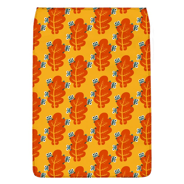 Bugs Eat Autumn Leaf Pattern Flap Covers (L)