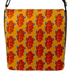 Bugs Eat Autumn Leaf Pattern Flap Messenger Bag (s)