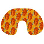 Bugs Eat Autumn Leaf Pattern Travel Neck Pillows Back
