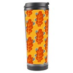 Bugs Eat Autumn Leaf Pattern Travel Tumbler Left