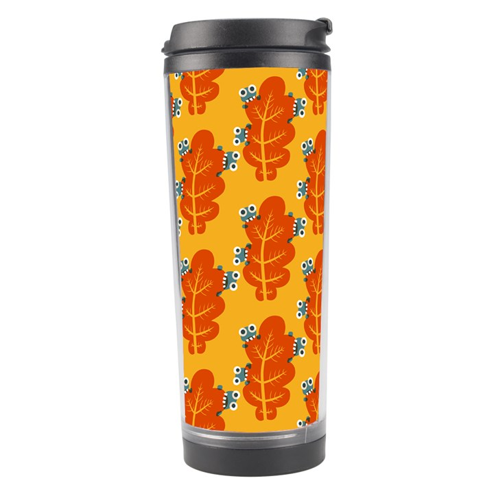 Bugs Eat Autumn Leaf Pattern Travel Tumbler