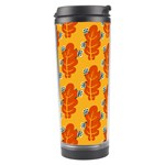 Bugs Eat Autumn Leaf Pattern Travel Tumbler Center
