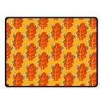 Bugs Eat Autumn Leaf Pattern Double Sided Fleece Blanket (Small)  50 x40 Blanket Front