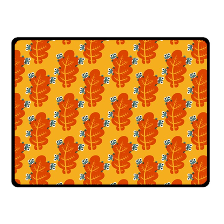 Bugs Eat Autumn Leaf Pattern Double Sided Fleece Blanket (Small)