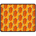 Bugs Eat Autumn Leaf Pattern Double Sided Fleece Blanket (Medium)  60 x50 Blanket Front