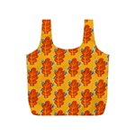 Bugs Eat Autumn Leaf Pattern Full Print Recycle Bags (S)  Back