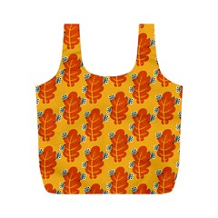 Bugs Eat Autumn Leaf Pattern Full Print Recycle Bags (M)