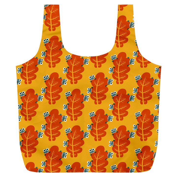 Bugs Eat Autumn Leaf Pattern Full Print Recycle Bags (L)