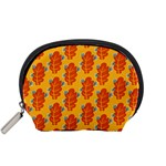 Bugs Eat Autumn Leaf Pattern Accessory Pouches (Small)  Front