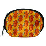 Bugs Eat Autumn Leaf Pattern Accessory Pouches (Medium)  Front