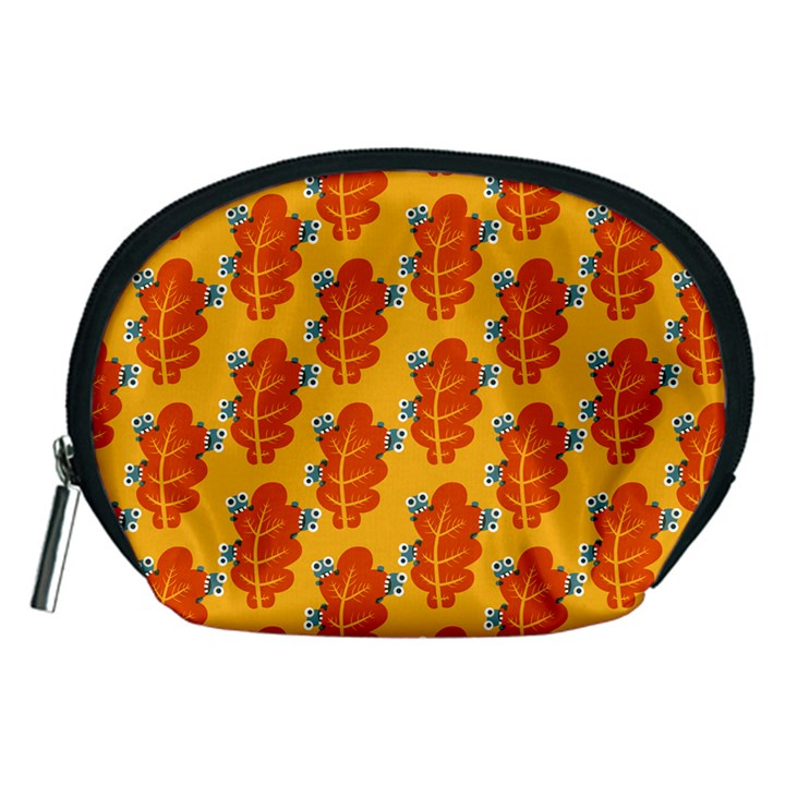 Bugs Eat Autumn Leaf Pattern Accessory Pouches (Medium)