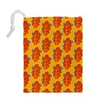 Bugs Eat Autumn Leaf Pattern Drawstring Pouches (Large)  Back