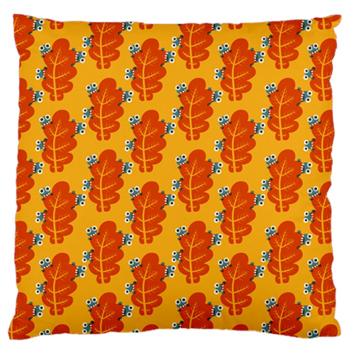 Bugs Eat Autumn Leaf Pattern Standard Flano Cushion Case (One Side)