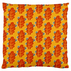 Bugs Eat Autumn Leaf Pattern Large Flano Cushion Case (Two Sides)
