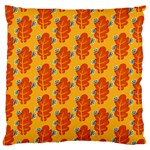Bugs Eat Autumn Leaf Pattern Large Flano Cushion Case (Two Sides) Front