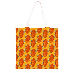 Bugs Eat Autumn Leaf Pattern Grocery Light Tote Bag