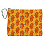 Bugs Eat Autumn Leaf Pattern Canvas Cosmetic Bag (XXL) Front