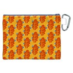 Bugs Eat Autumn Leaf Pattern Canvas Cosmetic Bag (XXL) Back