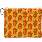Bugs Eat Autumn Leaf Pattern Canvas Cosmetic Bag (XXXL) Front