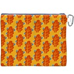 Bugs Eat Autumn Leaf Pattern Canvas Cosmetic Bag (XXXL) Back