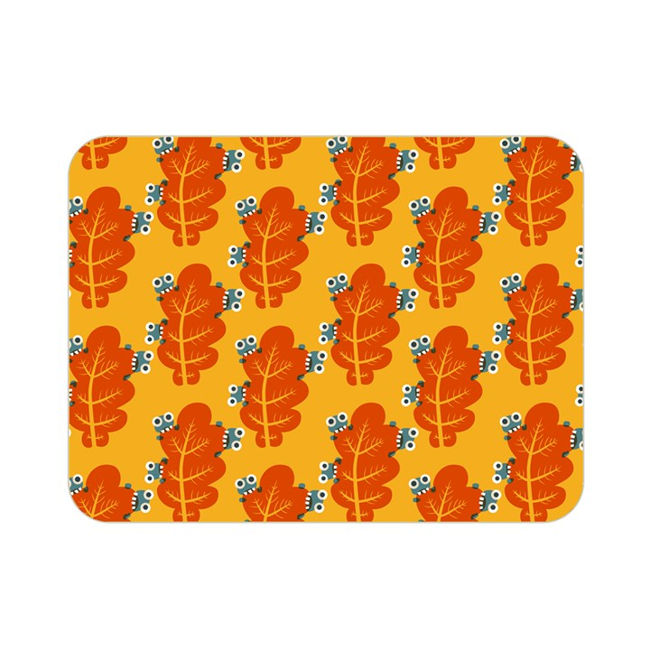 Bugs Eat Autumn Leaf Pattern Double Sided Flano Blanket (Mini)