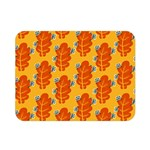 Bugs Eat Autumn Leaf Pattern Double Sided Flano Blanket (Mini)  35 x27 Blanket Back